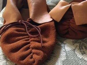 Sophisticated Simple Pucker Toe Moccasins
